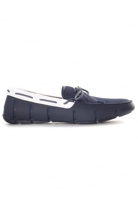 Men's Lace Loafer Navy/White Sparkle