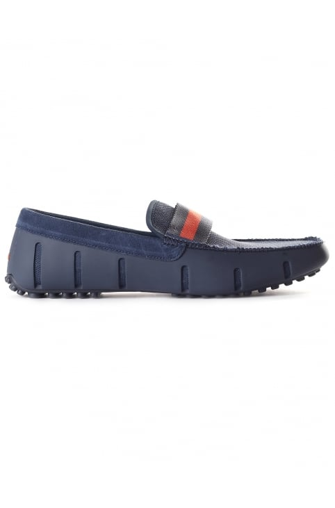 Men's Webbing Driver Loafer Navy/Orange