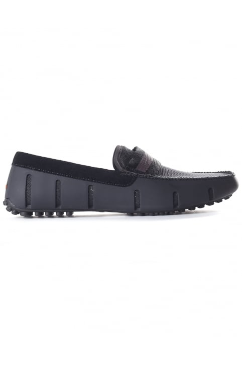 Men's Webbing Driver Loafer Black/Grey