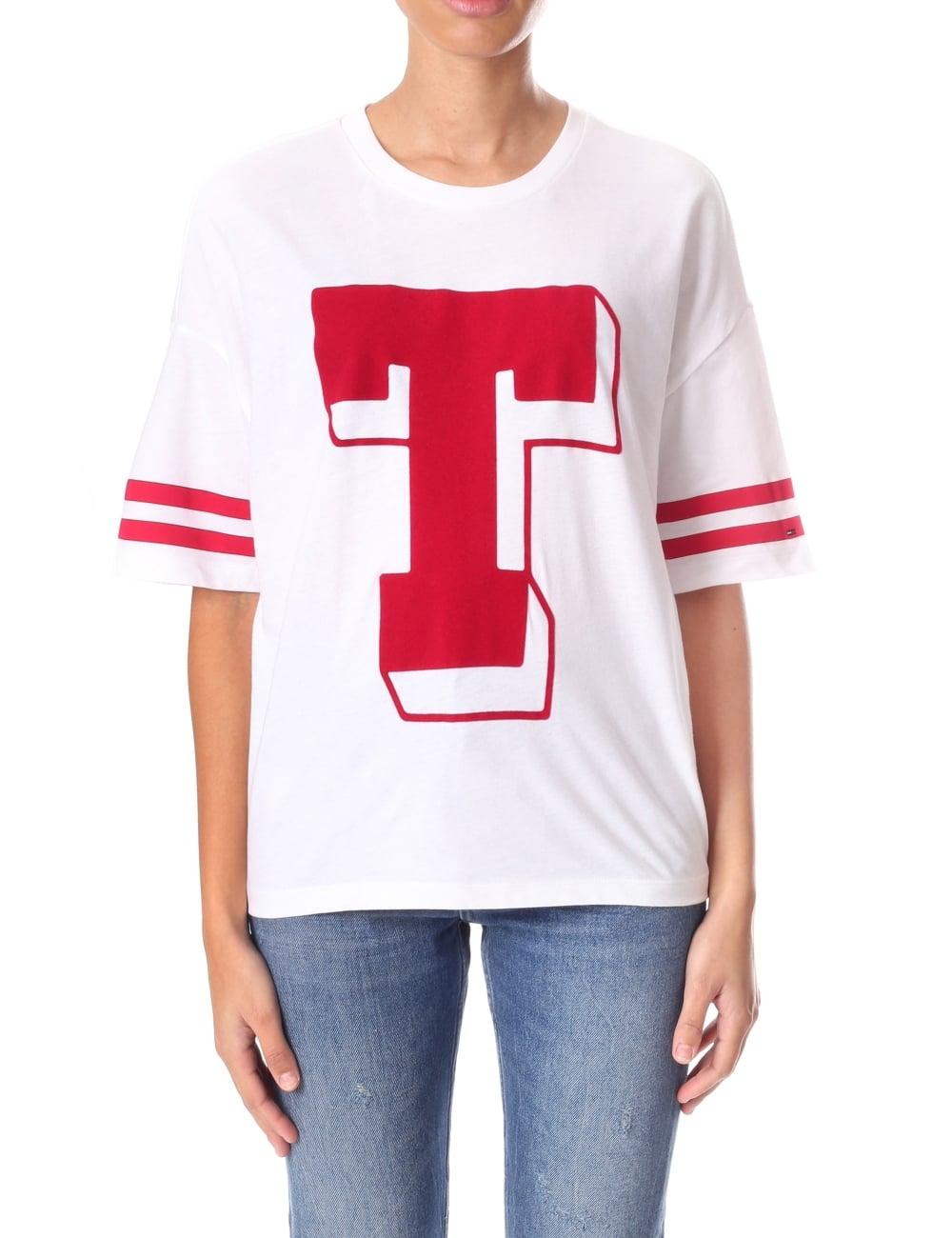official shop buy online delicate colors Tommy Hilfiger 'T' Logo Women's T-Shirt