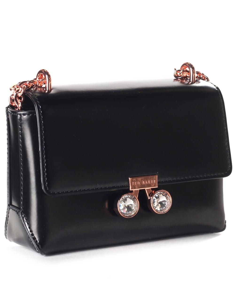 0741ddd13a7826 Ted Baker Adoni Crystal Lock Women s Mini Crossbody Bag Black