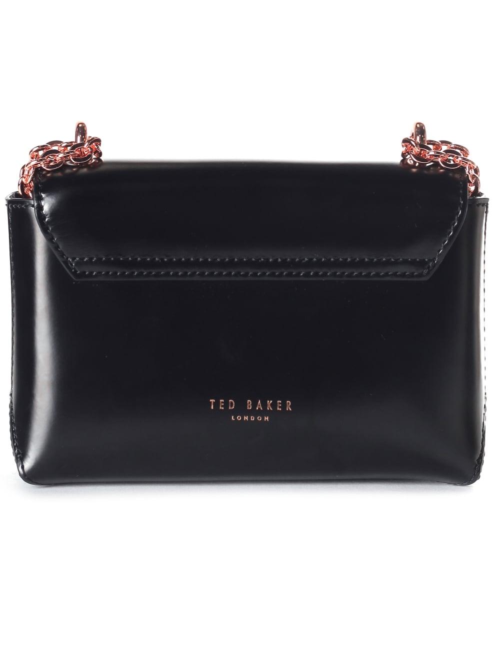 81d8f9dc7458 Ted Baker Adoni Crystal Lock Women s Mini Crossbody Bag Black