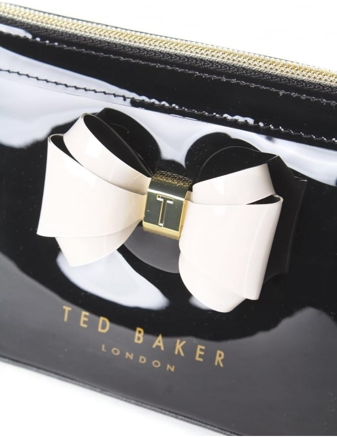 a4f0602322154 Ted Baker Aimee Curved Bow Women s Make Up Bag Black