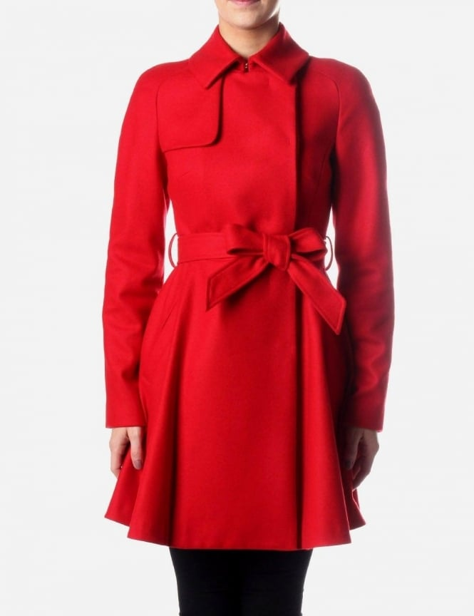 75159c44a188c3 Ted Baker Albine Women s Wool Trench Coat Red