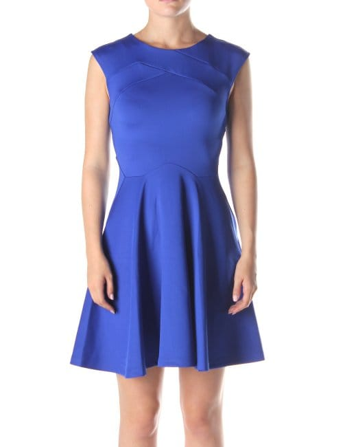 Ted Baker Arwyn Women S Panelled Skater Dress Bright Blue