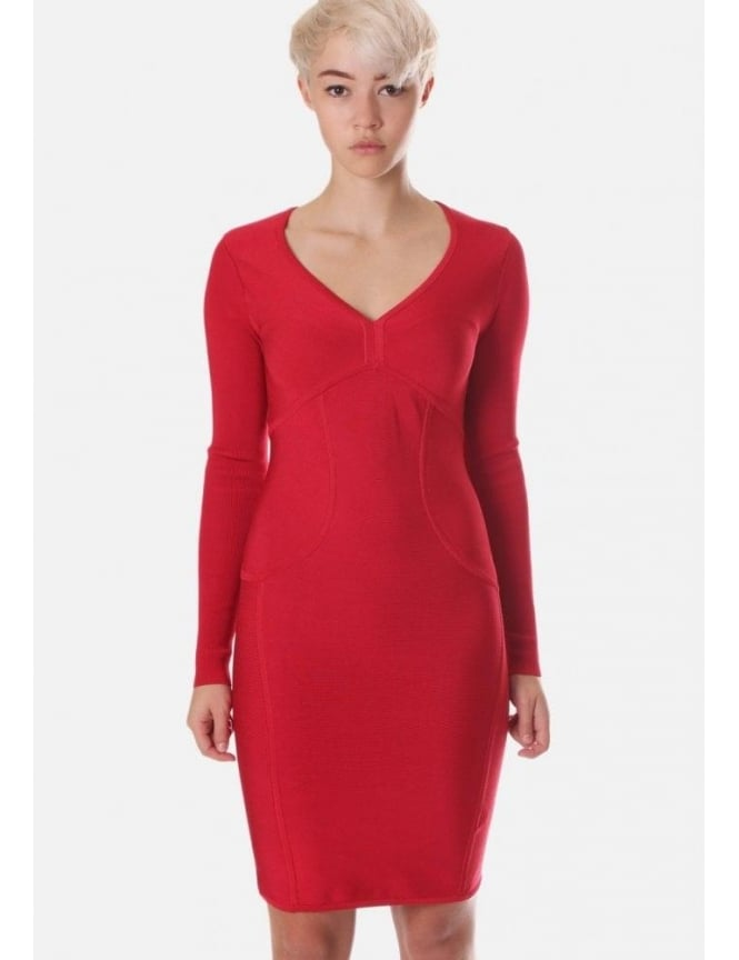 821bac85041e7 Aspin Women s Body Con Dress Dark Red