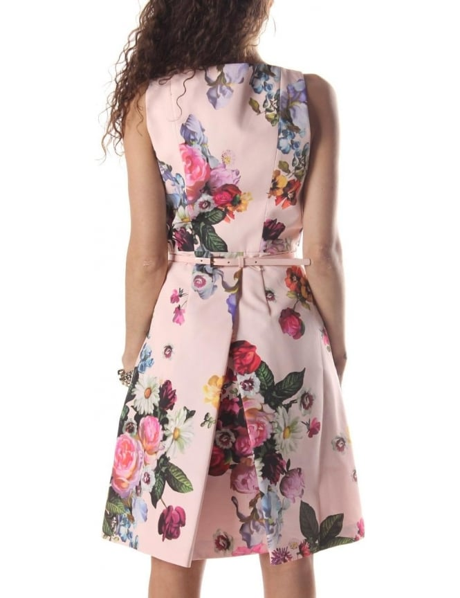 7b3aa56a65acad Ted Baker Deavon Women s Oil Painting Dress Nude Pink