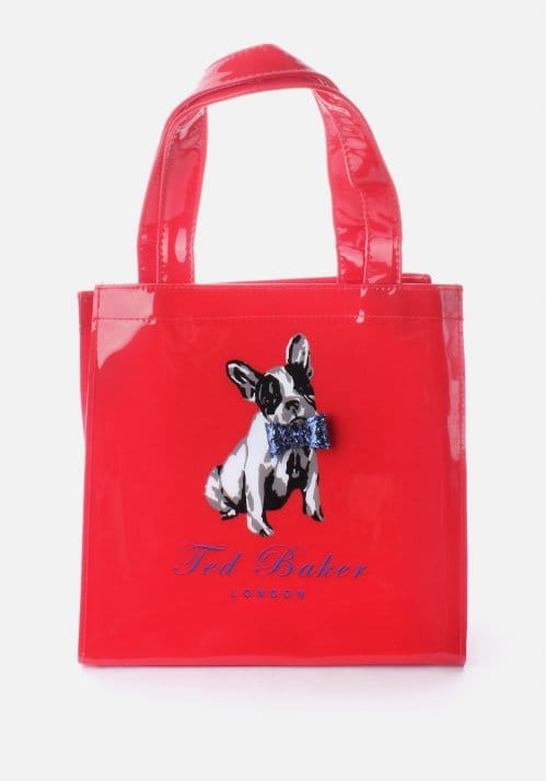 c320445c45133 Ted Baker Dogcon Women s Bow Tie Dog Print Small Bag Red