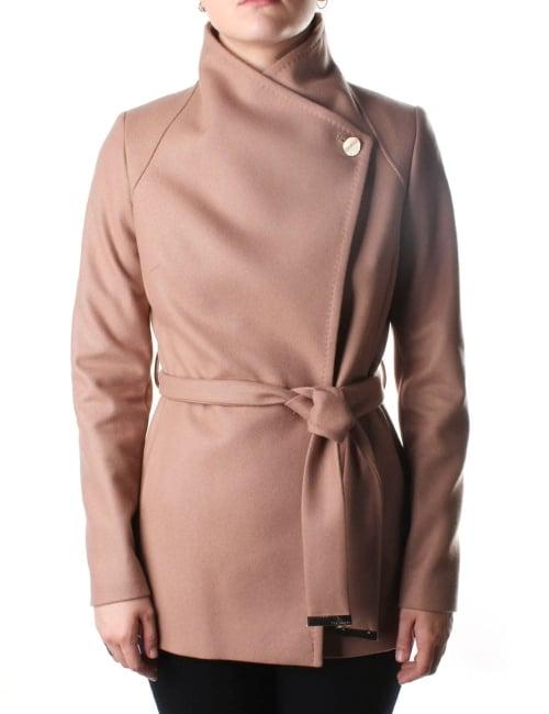 Ted Baker Elethea Wrap Around Women S Collared Coat Camel