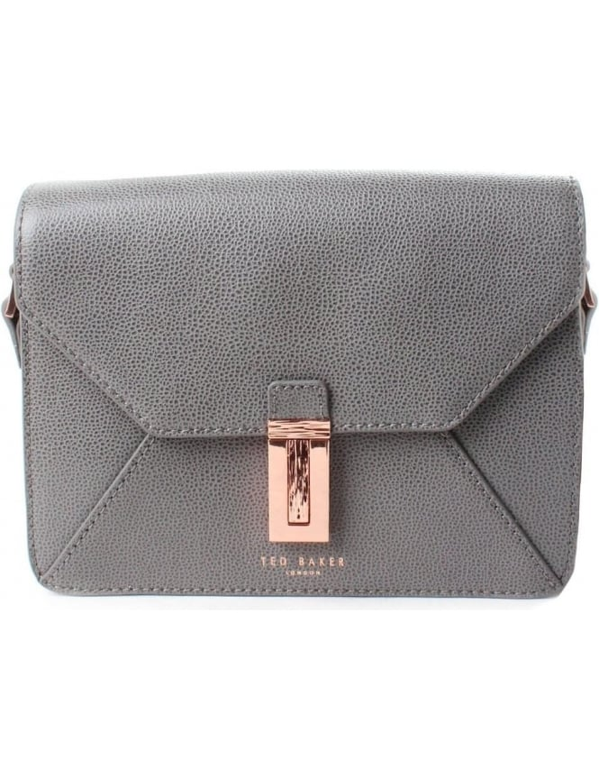 Ted Baker Ellen Women's Caviar Leather Crossbody Bag Gunmetal