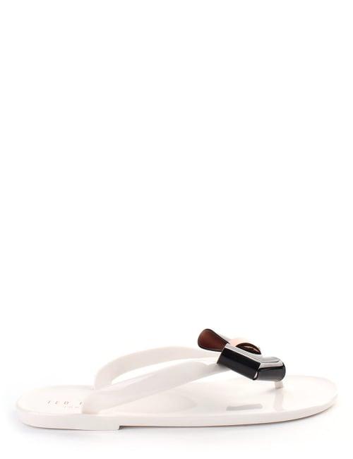 56b87b64e650f1 ... Ted Baker Ettiea Women s Bow Flip Flops Cream 100% genuine 5f64d 0e3ad  . ...