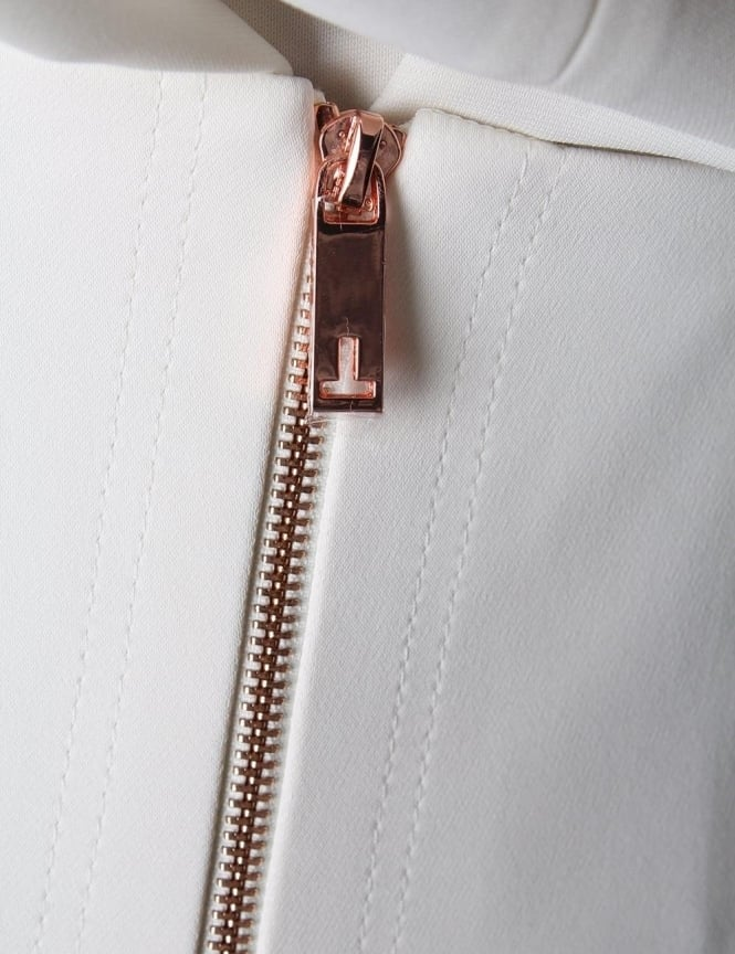 9f967f1d370fdd Ted Baker Gemia High Waisted Women's Split Pencil Skirt Cream