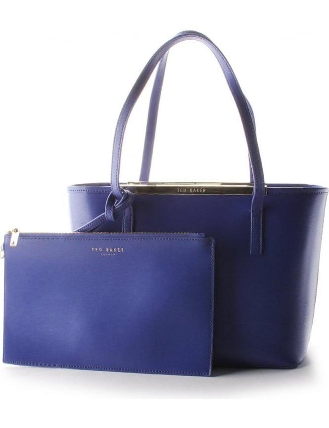 7aad2d4b8 Ted Baker Haileyz Women s Small Crosshatch Shopper Bag Blue