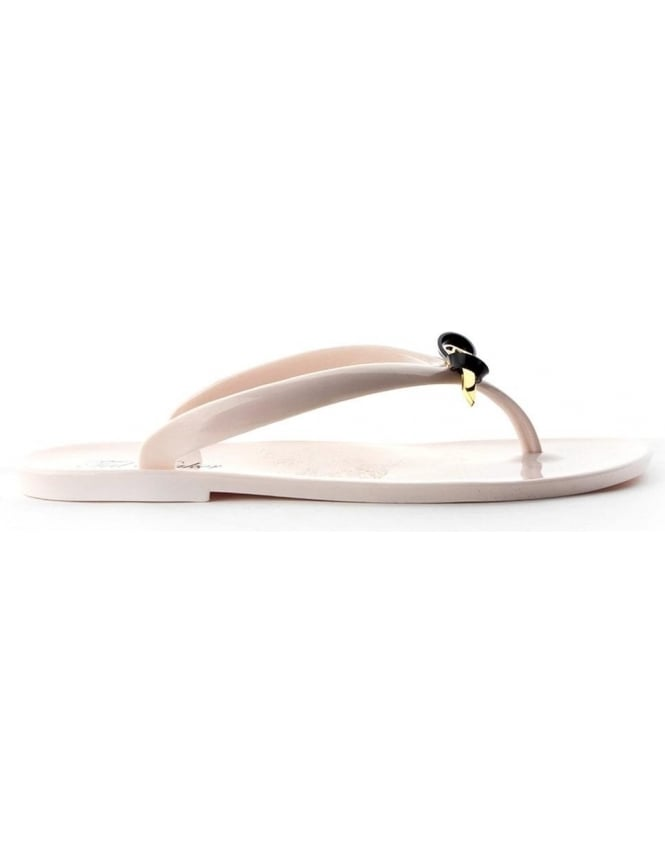 df8e1172bbb4 Ted Baker Heeibei Women s Jelly Flip Flops Cream
