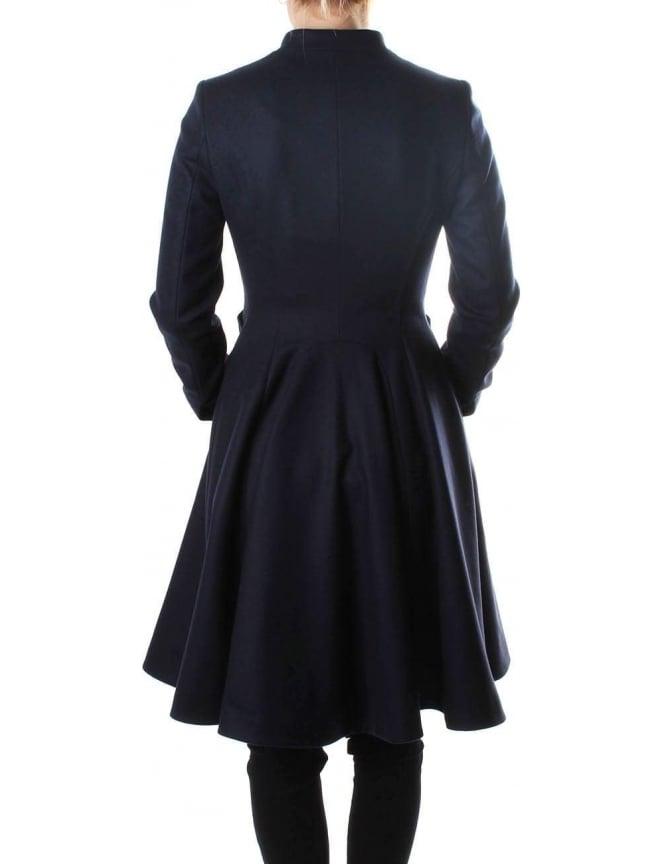Ted baker black flare coat
