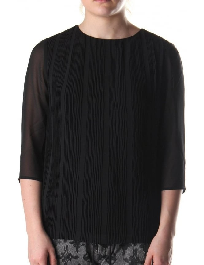 Ted Baker Kensir Women's Pleated Woven Top Black