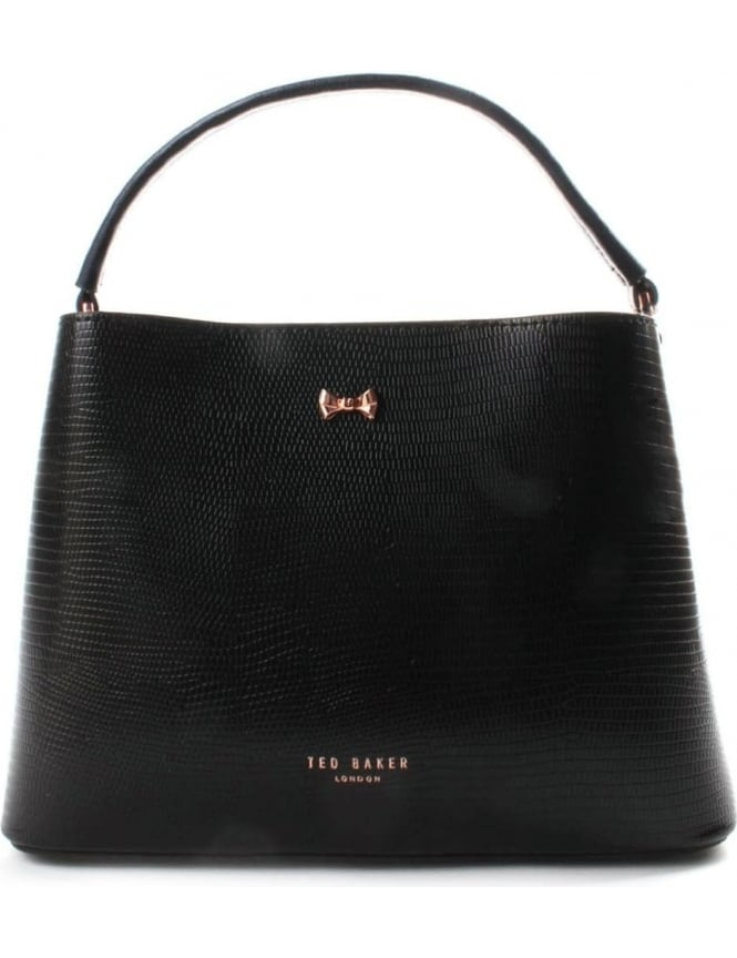 Ted Baker Lainy Top Handle Women's Small Bow Tote Bag Black