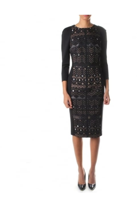 Mileae Women's Jacquard Dress