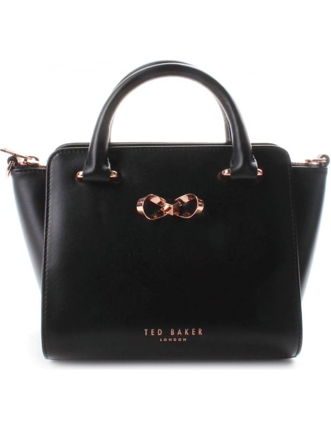 87883aafe7ae Ted Baker Minibow Leather Women s Tote Bag Black