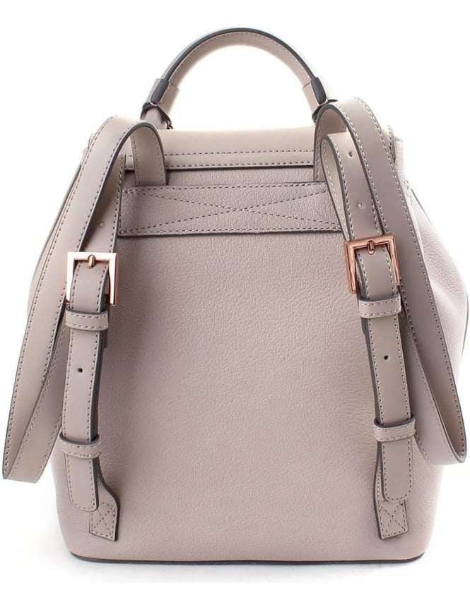 a3e22a2035 Ted baker Nahra Women s Luggage Lock Detail Backpack Light Grey