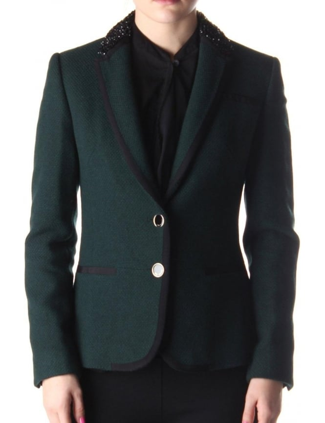 31a66695c8f Ted Baker Nariana Women s Blazer Jacket Dark Green