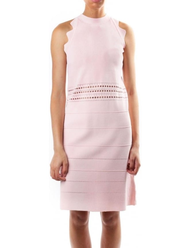 4551221d2 Ted Baker Natleah Women s Scallop Detailed Dress Baby Pink