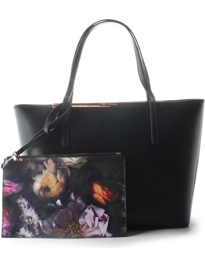931ebfc173 Ted Baker Noelle Printed Lining Crosshatch Women's Shopper Black