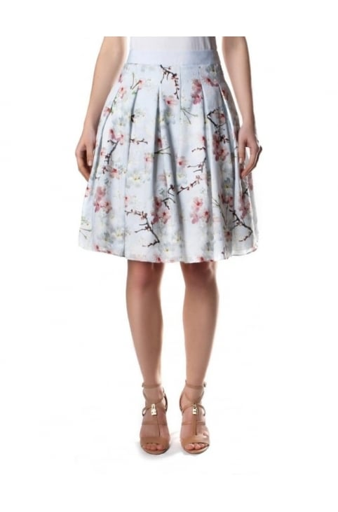 Oriental Blossom Women's Burnout Skirt