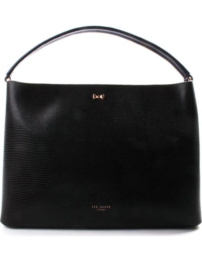 Ted Baker Peny Top Handle Women's Bow Detail Tote Bag Black