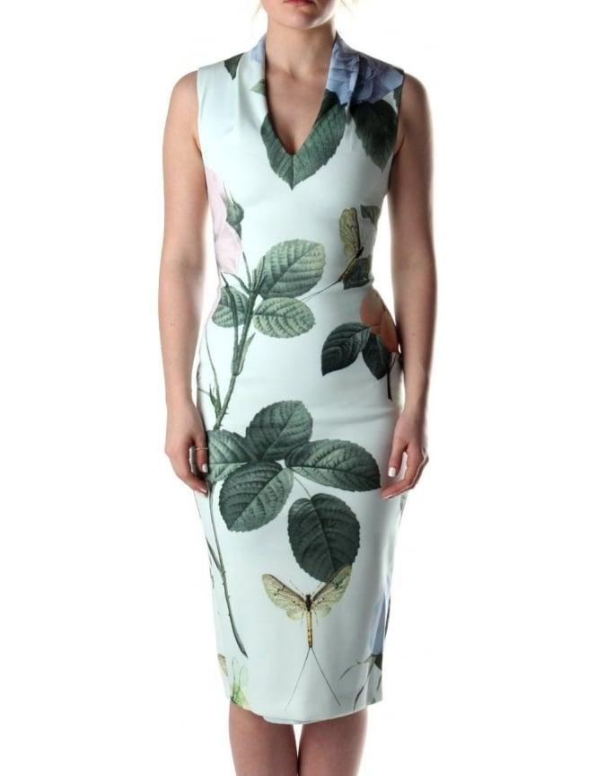 8a27fe3f1c5c Ted Baker Ravina Women s Distinguishing Midi Rose Dress Mint