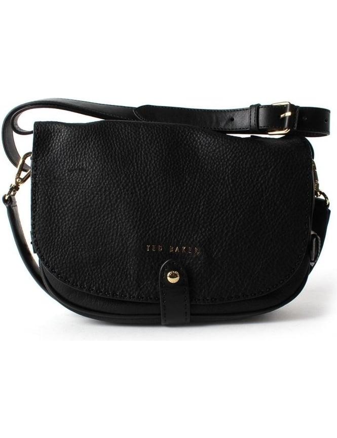 1195b1a8322 Ted Baker Rowann Women s Stab Stitch Leather Shoulder Bag Black