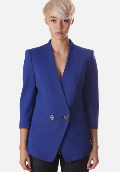 Rufia Women S Double Button Blazer Jacket Bright Blue