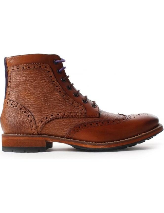 best shoes online retailer quality Ted Baker Sealls 2 Men's Wingtip Brogue Ankle Boot Tan