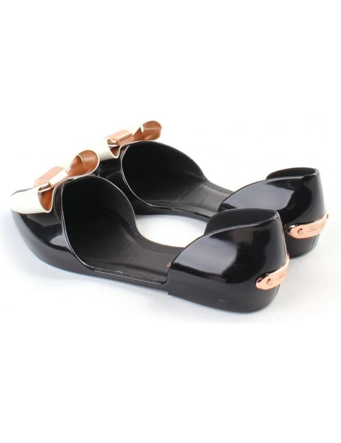 03790043e9bcc Ted Baker Tayena Bow D Orsay Women s Jelly Pumps Black