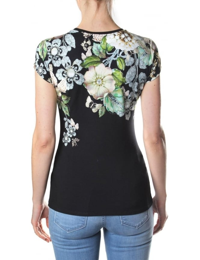 d34390f9cfdc Ted Baker Veeni Gem Gardens Women s Fitted Tee