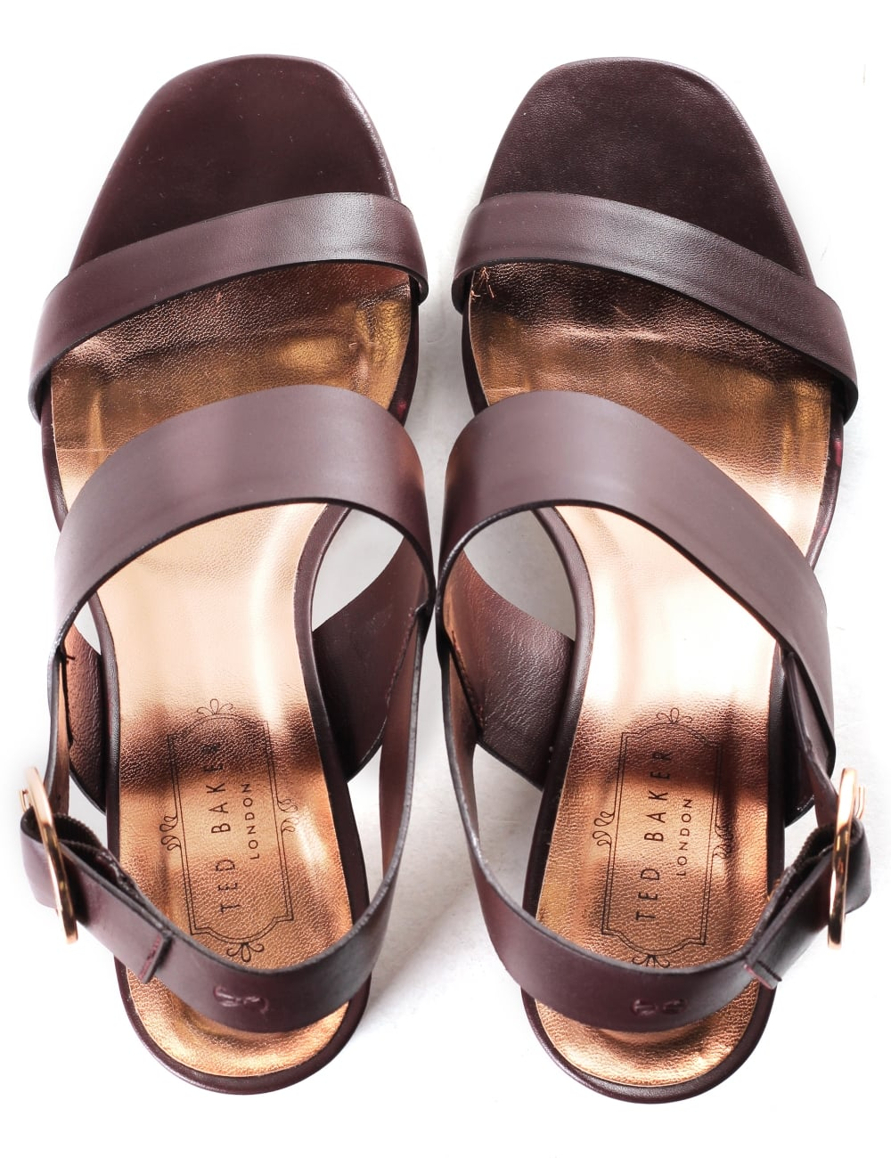 aad571e1f1303 Ted Baker Women s Azmara Ankle Strap Leather Sandal
