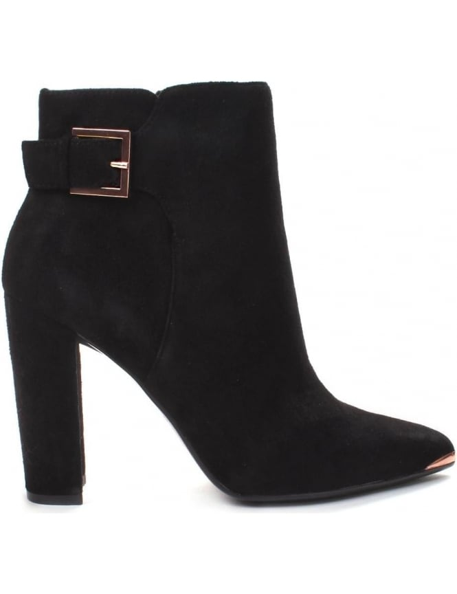 Ted Baker Women's Buckle Point Suede Heeled Ankle Boots