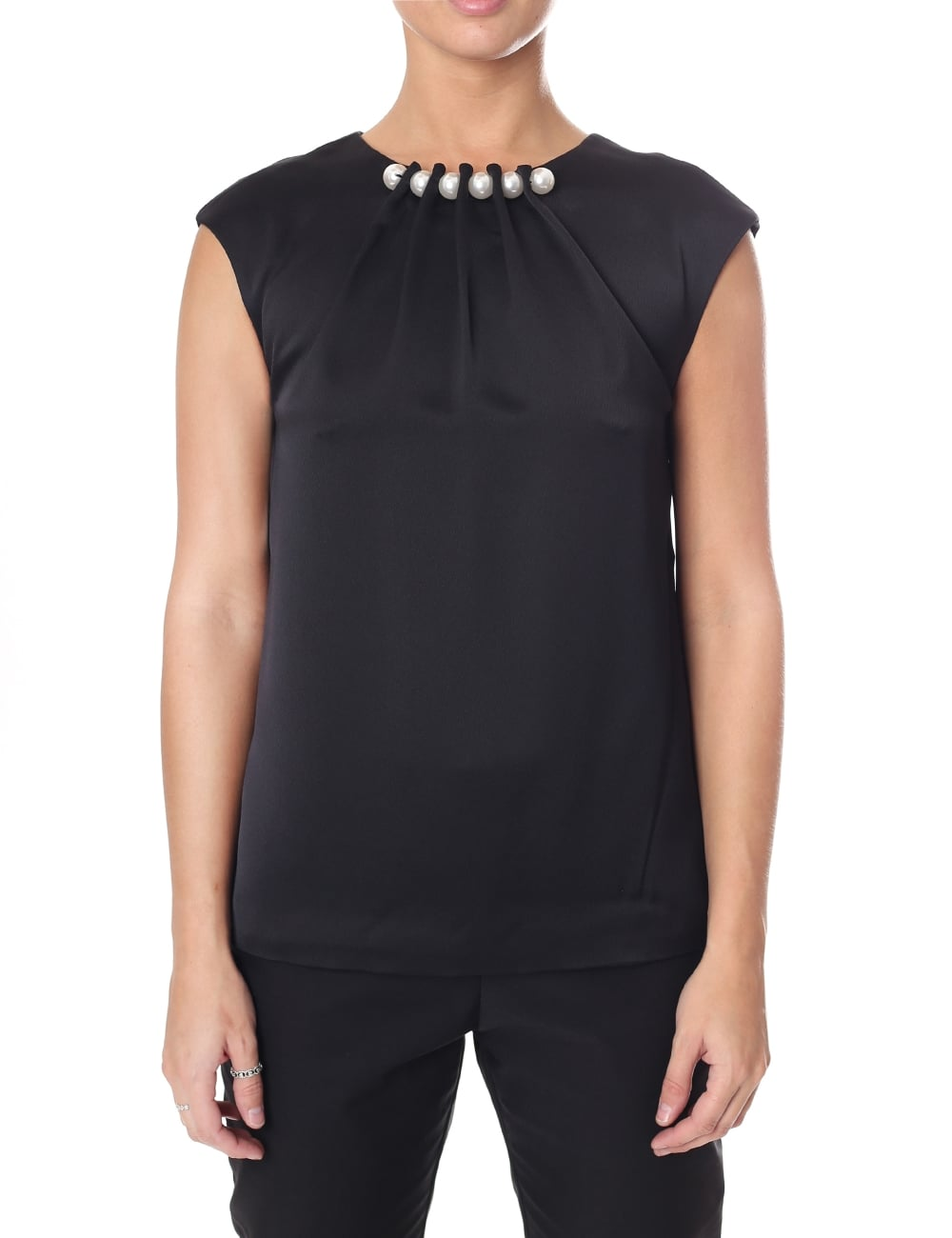 9e59d4c8a0816 Ted Baker Women s Camble Folded Pearl Neck Sleeveless Top