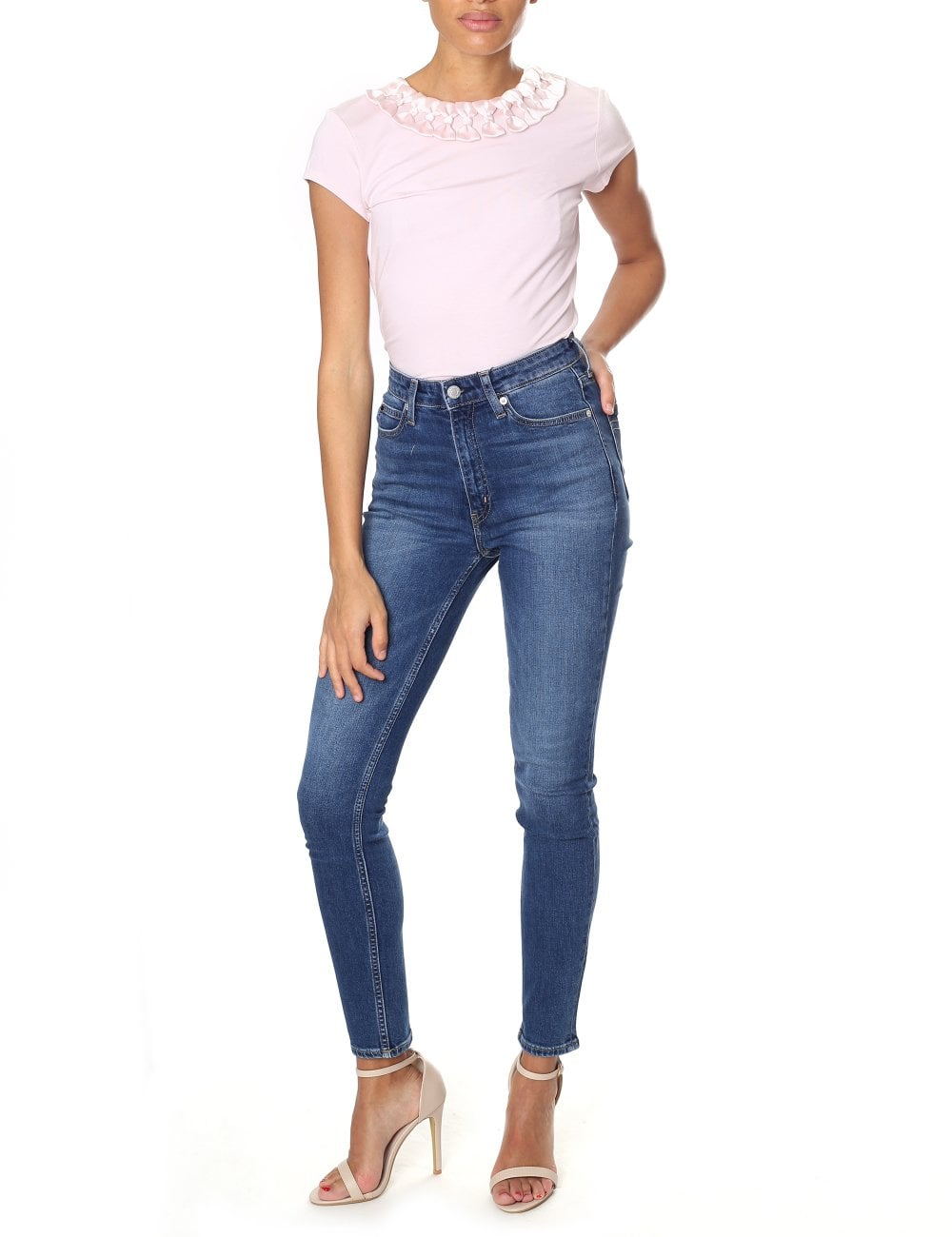 7655b47c549166 Ted Baker Women s Charre Bow Neck Trim Detail Tee