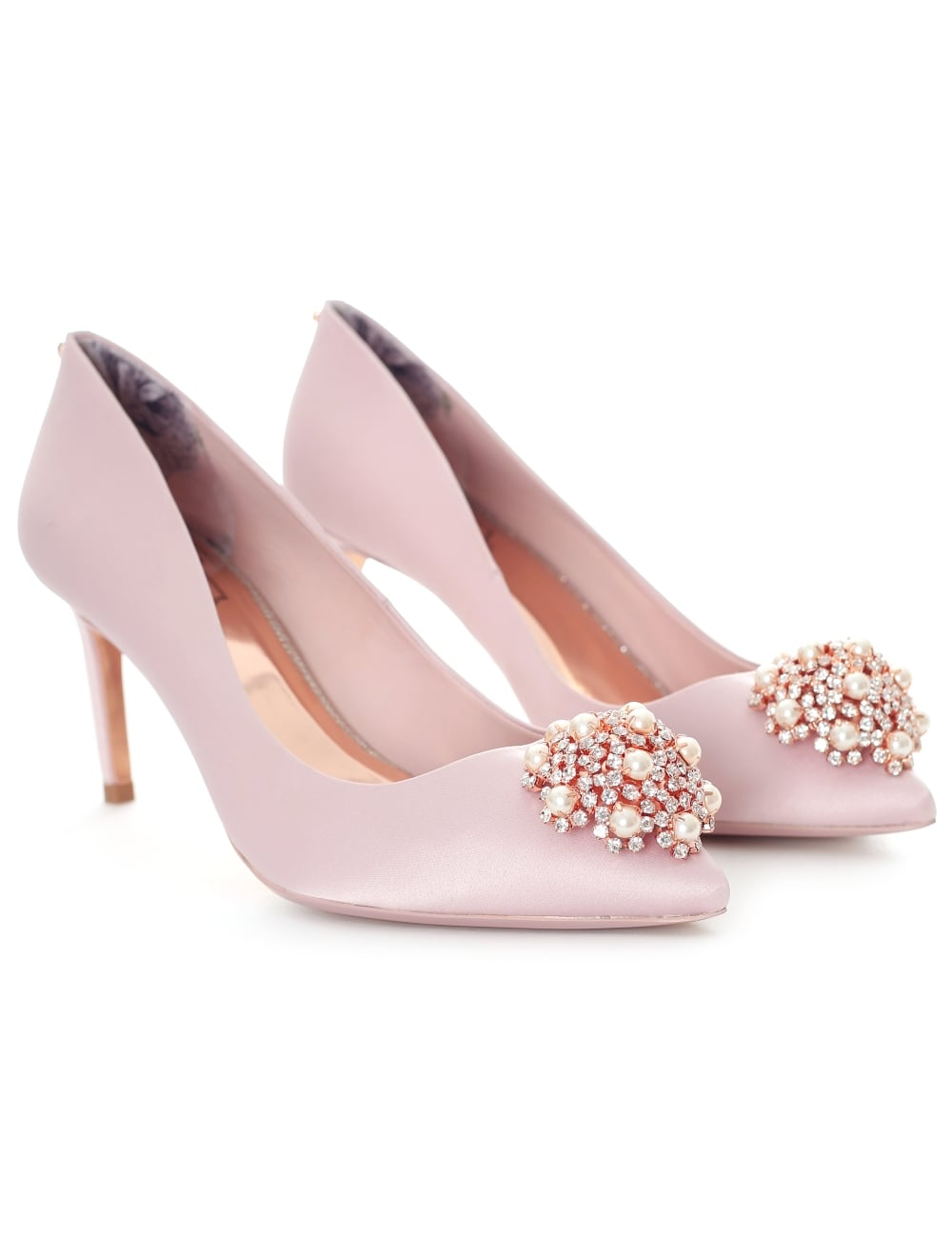 93fd8958fb6 Ted Baker Women s Dahrlin Jewel Broach Mid Heel Court