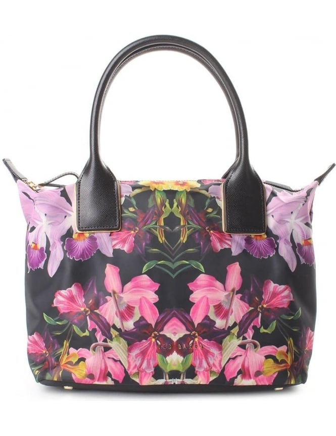f3f646d24c6720 Ted Baker Women s Lost Gardens Nylon Small Tote Bag Black