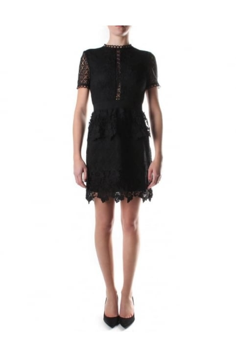 Women's Dixa Layered Lace Skater Dress Black