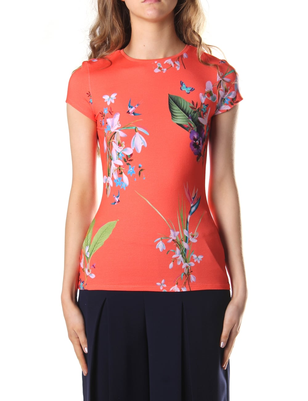 Ted Baker Women's Hanyah Tropical Oasis Fitted Tee