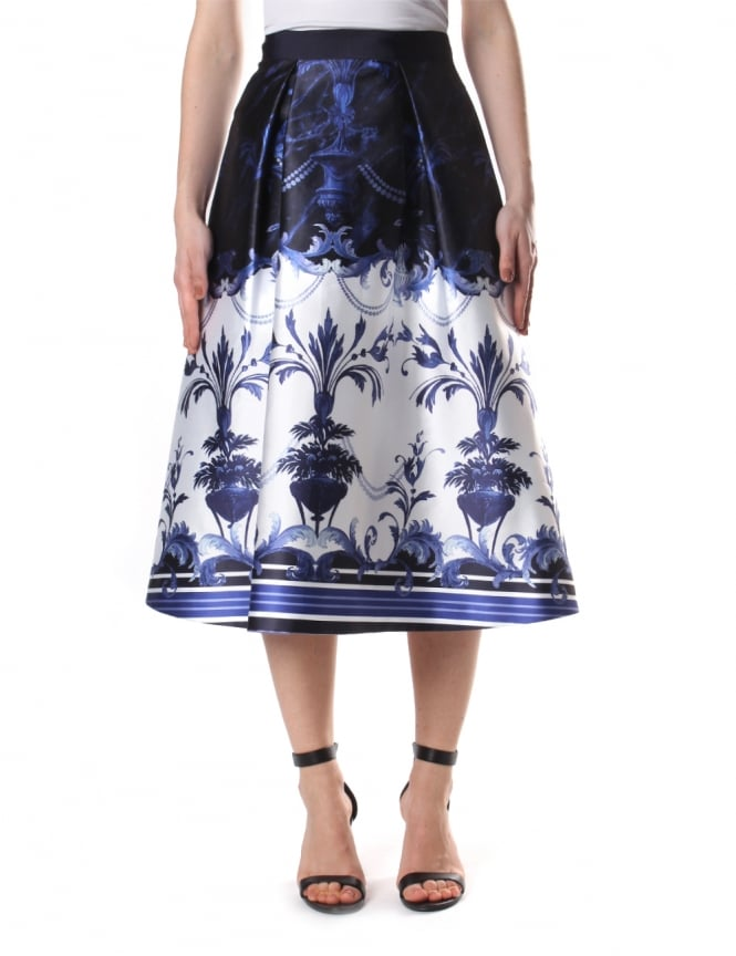 Ted Baker Women's Hunah Persian Blue Full Skirt