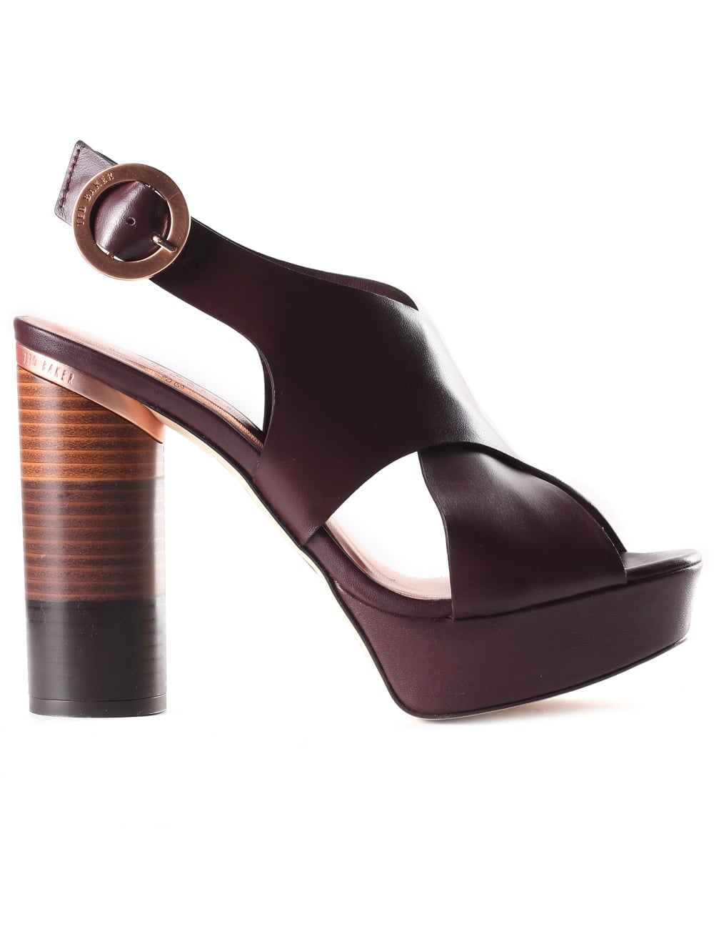 Ted Baker Women s Kamilla Cross Over Leather Block Heel Sandals db4c43a03b