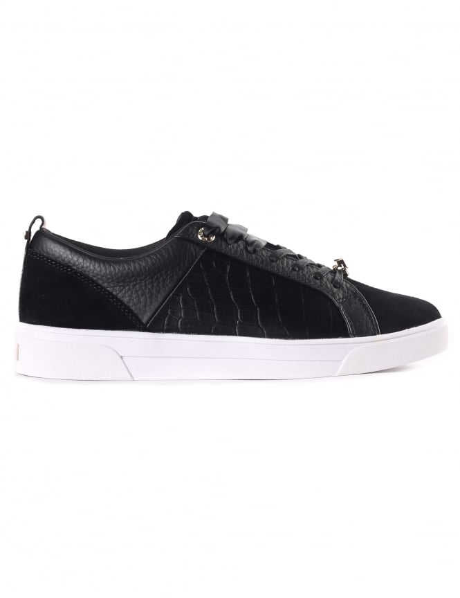 Ted Baker Women's Kulei Velvet Croc Leather Trainer