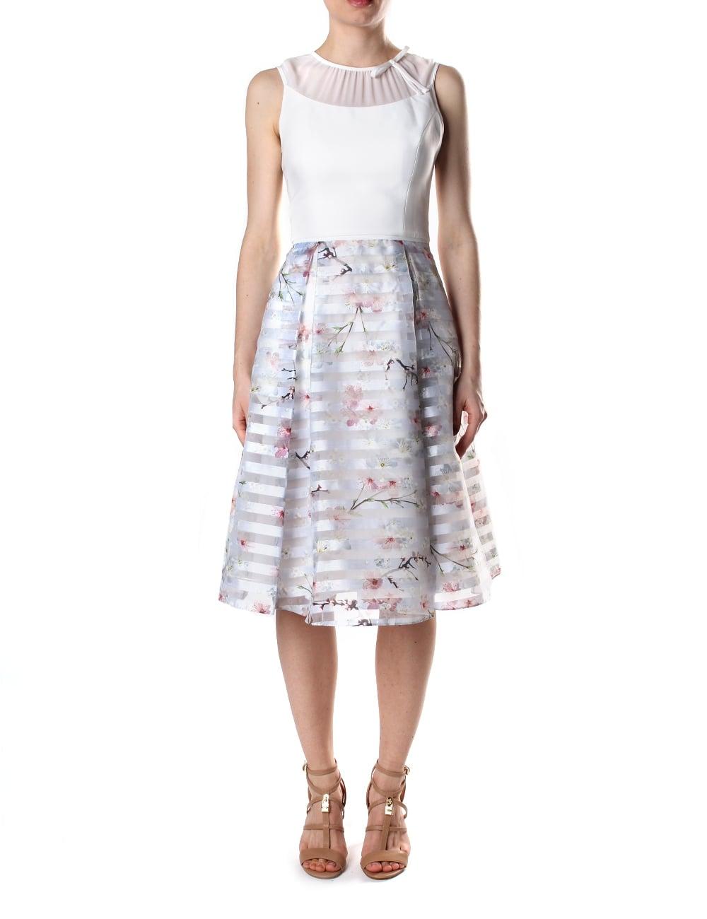 Ted Baker Women's Monah Oriental Blossom Contrast Dress