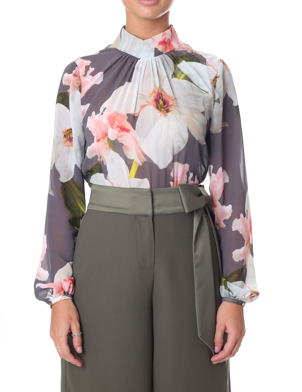 ad956969f154 Ted Baker Women s Tily Chatsworth Bloom Ruched Blouse