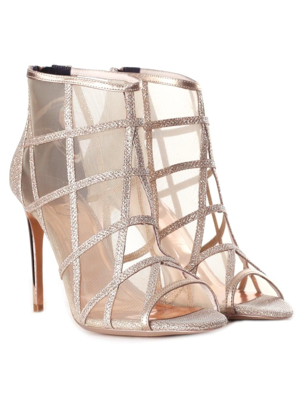 4460d98e003c Ted Baker Women s Xstal Mesh Peep Toe Boots