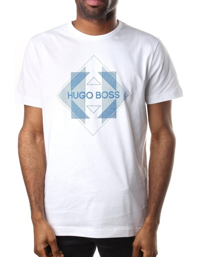 4ec466bff8 Boss Green Tee 2 Logo Print Men's Crew Neck T-Shirt White